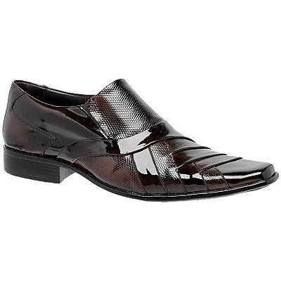 Sapato Social Em Couro Verniz Gofer
