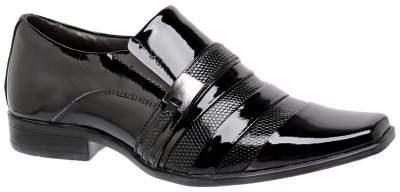 Sapato Social Em Couro Verniz Infantil
