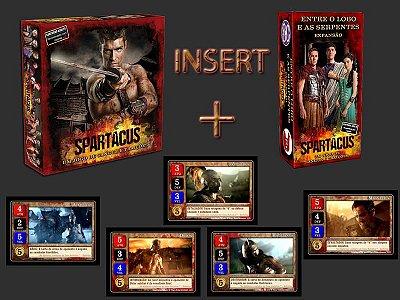 MEGA COMBO Spartacus - Um Jogo de Sangue e Traições + Expansão + Promo Pack + Insert