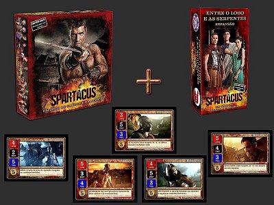 COMBO Spartacus - Um Jogo de Sangue e Traições + Expansão + Promo Pack