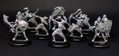 Miniaturas para RPG - Tropa dos Esqueletos (Kit com 10 miniaturas)
