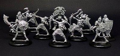 Miniaturas para RPG - Tropa dos Esqueletos (Kit com 10 miniaturas)