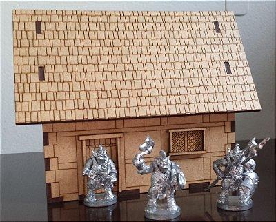 Cenário para RPG - Casa (escala 32mm)