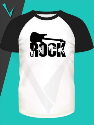 Camiseta Raglan - Rock