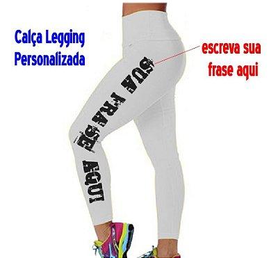 Calça Legging Personalizada - Poliamida - Várias cores e tamanhos