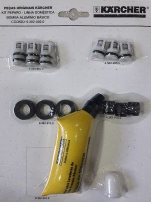 Kit reparo p/ Bomba de Aluminio Basico