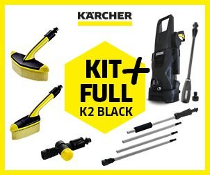 Lavadora de alta pressão K 2 BLACK KIT FULL +