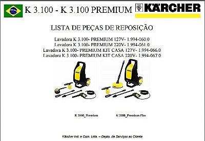 Vista explodida K.3100 Premium