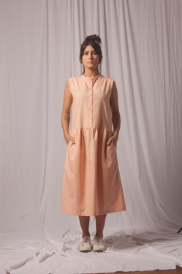 Vestido Zaha Laranja