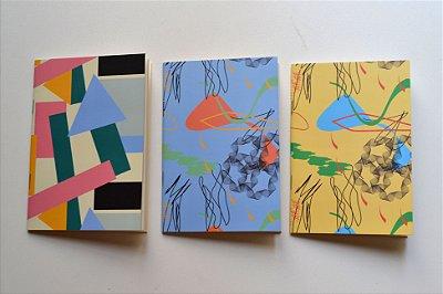 Caderninho Estampado - Kit com 3 Unidades