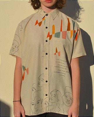 Camisa Estampada Liberdade Manga Curta