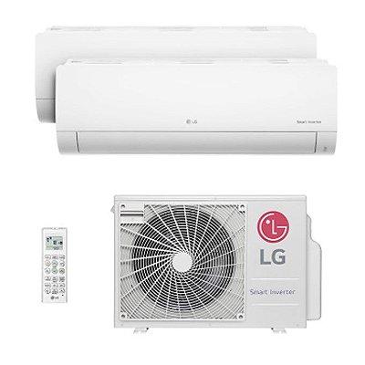 Ar Condicionado Multi Bi Split Hw Inverter Lg 2x9000 Btus Quente/frio 220V Monofasico