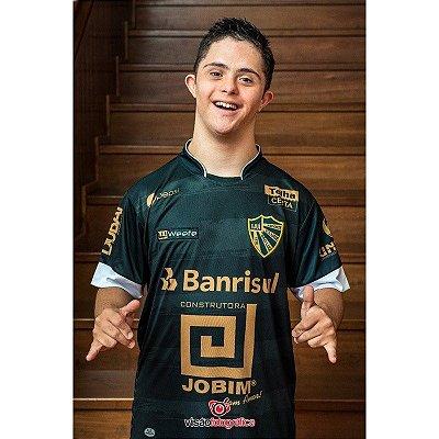 Camiseta São Luiz Preto com Dourado