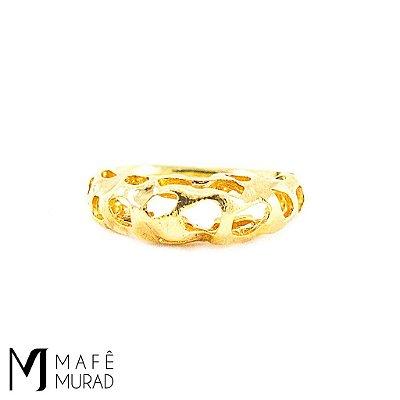 Anel Feminino Dourado