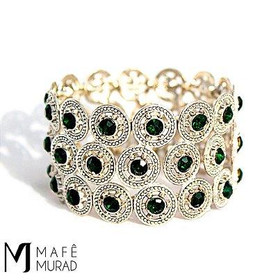 Bracelete Verde Prata