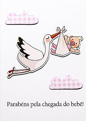 Cartão Cegonha Menina