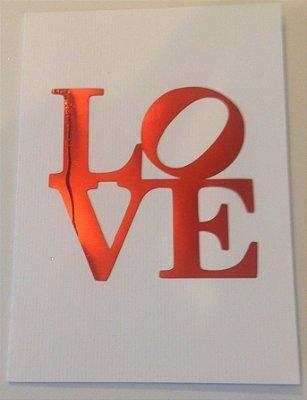 Cartão Love  ( Branco )