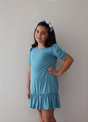 Vestido Infantil Mariá Azul