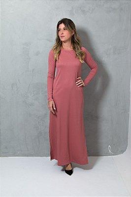 Vestido Canelado Rose