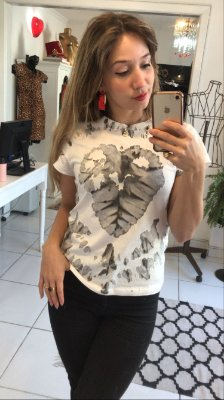 T-shirt Coração Tie Dye