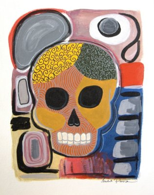 Pintura Skull (peça única, tamanho 41x32)