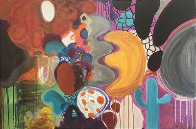 Pintura Cores urbanas (peça única, tamanho 147x98)