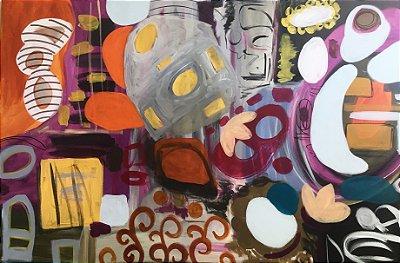 Pintura Cores urbanas II (peça única, tamanho 147x98)
