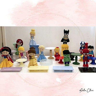 Kit Princesas e Heróis - Locação
