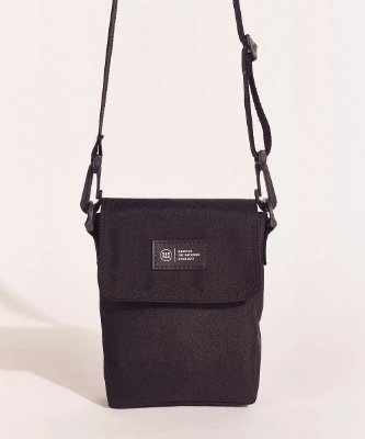 Bolsa masculina birden shoulder bag alça removível preto