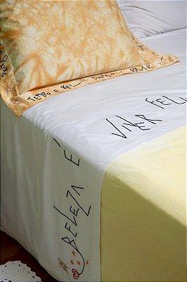 Conjunto Beleza é Viver Feliz cama king