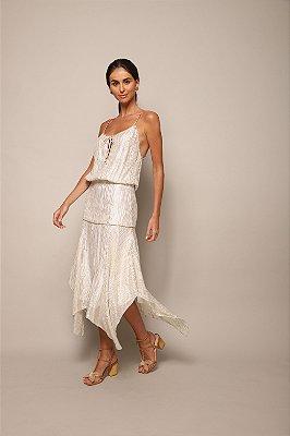 Vestido Alcinha Lurex