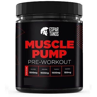 Pré Treino Muscle Pump Pre Workout 300g Espartanos ( Sabor: ) Limão/Frutas Vermelhas