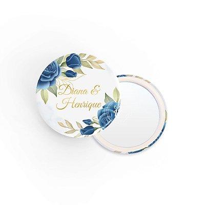 Kit Espelho Lembrancinha Casamento Azulado