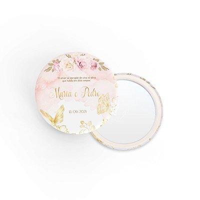 Kit Espelho Lembrancinha Casamento Butterfly