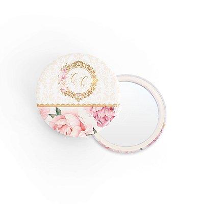 Kit Espelho Lembrancinha Casamento Quadro Rosa