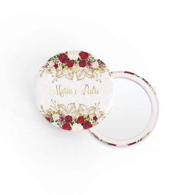 Kit Espelho Lembrancinha Casamento Arabesco Floral