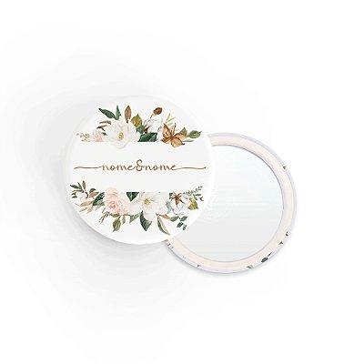 Kit Espelho Lembrancinha Casamento Nomes