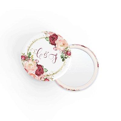 Kit Espelho Lembrancinha Casamento Rose