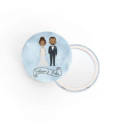 Kit Espelho Lembrancinha Casamento Luz