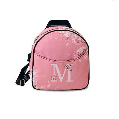 Mochila Mini Bag Personalizada Rosa Floral