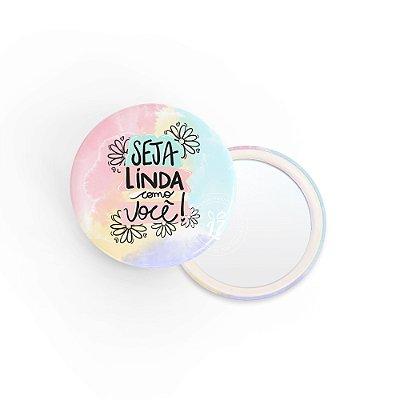Kit Espelho de Bolsa Frase Linda como Você