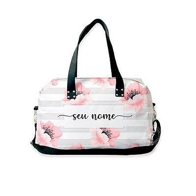 Bolsa de Viagem Personalizada Floral Listrada