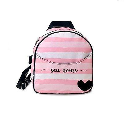 Mochila Mini Bag Personalizada Listrada Rosa