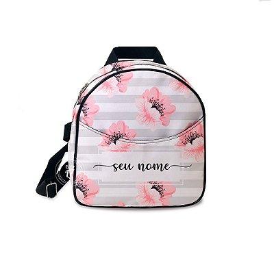 Mochila Mini Bag Personalizada Floral Listrada