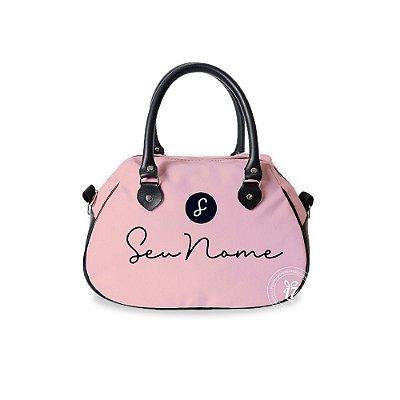 Bolsa de Mão Courino Personalizada Rose