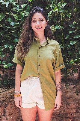 Camisa Cânhamo Collab Aurea x Manlaya Verde