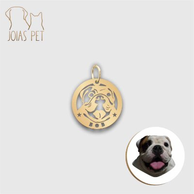 Pingente Personalizado Pet/cachorro Berloque 15mm