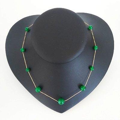 Gargantilha Pedra Jade Verde