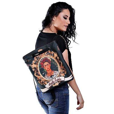 Mochila bolsa feminina estampa Frida Kahlo
