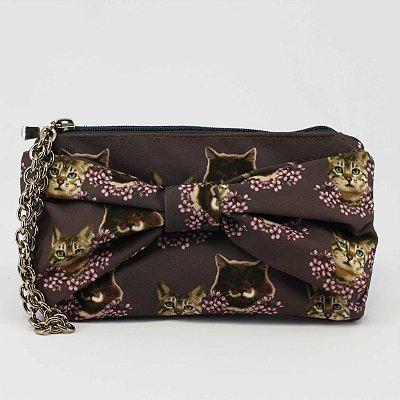 Bolsa carteira feminina estampa gatinho